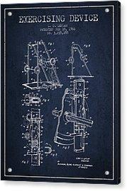 1966 Exercising Device Patent Spbb05_nb Acrylic Print