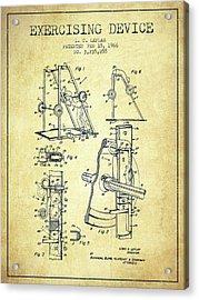 1966 Exercising Device Patent Spbb05_vn Acrylic Print