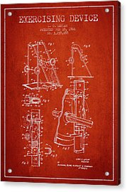 1966 Exercising Device Patent Spbb05_vr Acrylic Print