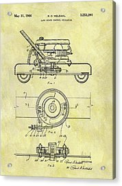 1966 Mower Patent Acrylic Print by Dan Sproul