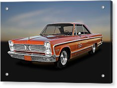 1966 Plymouth Sport Fury - 66plyspfry1195 Acrylic Print