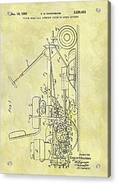 1966 Riding Mower Patent Acrylic Print by Dan Sproul