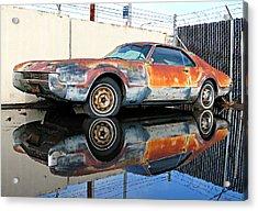 1966 Toronado In Decay  Acrylic Print