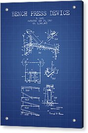 1967 Bench Press Device Patent Spbb06_bp Acrylic Print