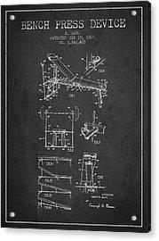 1967 Bench Press Device Patent Spbb06_cg Acrylic Print