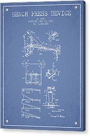 1967 Bench Press Device Patent Spbb06_lb Acrylic Print