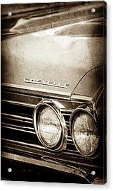 Acrylic Print featuring the photograph 1967 Chevrolet Chevelle Ss Super Sport Emblem -0413s by Jill Reger