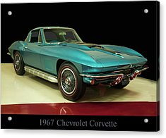 Acrylic Print featuring the digital art 1967 Chevrolet Corvette 2 by Chris Flees