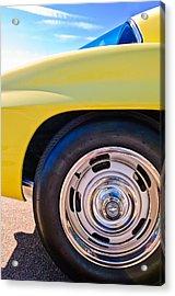 1967 Chevrolet Corvette Sport Coupe Rear Wheel Acrylic Print by Jill Reger