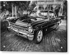 1967 Chevrolet Nova Super Sport Painted Bw 1 Acrylic Print