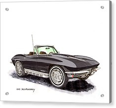 1967 Corvette Stingray Convert. Acrylic Print by Jack Pumphrey