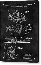 1967 Lawn Mower Patent Illustration Acrylic Print by Dan Sproul