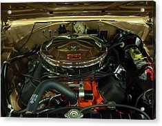 1967 Plymouth Belvedere Gtx 426 Hemi Motor Acrylic Print