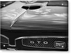 1967 Pontiac Gto Acrylic Print by Gordon Dean II