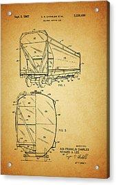 1967 Railway Hopper Car Acrylic Print by Dan Sproul