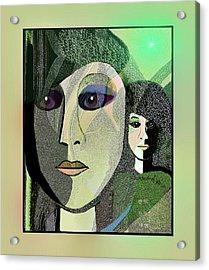 Acrylic Print featuring the digital art 1968 - A Dolls Head by Irmgard Schoendorf Welch