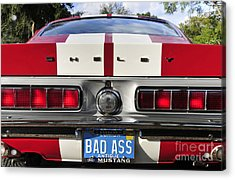 1968 Bad Ass Shelby Mustang Acrylic Print by David Lee Thompson