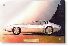 1968 Barracuda Vintage Styling Design Concept Sketch Acrylic Print