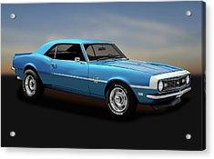 Acrylic Print featuring the photograph 1968 Chevrolet Camaro Super Sport 350   -  1968camaross350170414 by Frank J Benz