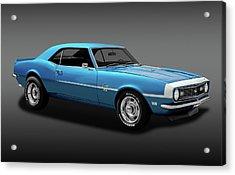 1968 Chevrolet Camaro Super Sport 350   -  1968chevcamaross350fa170414 Acrylic Print