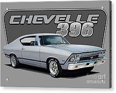 1968 Chevrolet Chevelle Acrylic Print by Paul Kuras