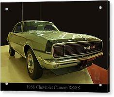 1968 Chevy Camaro Rs-ss Acrylic Print