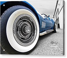 1968 Corvette White Wall Tires Acrylic Print by Gill Billington