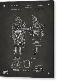 1968 Hard Space Suit Patent Artwork - Gray Acrylic Print by Nikki Marie Smith