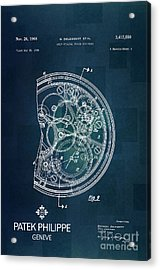 1968 Patek Philippe Patent 1 Acrylic Print by Nishanth Gopinathan