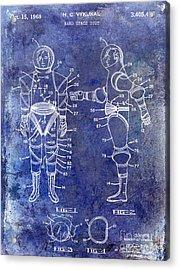 1968 Space Suit Patent Blue Acrylic Print by Jon Neidert