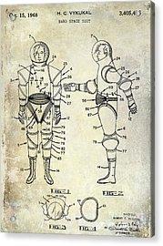 1968 Space Suit Patent Acrylic Print by Jon Neidert