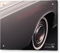 1968 Vintage Lincoln Sedan Fender Acrylic Print by Anna Lisa Yoder