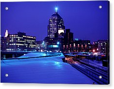 Acrylic Print featuring the photograph  1969 Boston Twilight by Historic Image