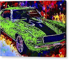 Acrylic Print featuring the mixed media 1969 Camaro Z28 by Al Matra