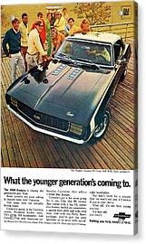 1969 Chevrolet Camaro Ss Acrylic Print