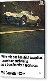 1969 Chevrolet Corvette Acrylic Print