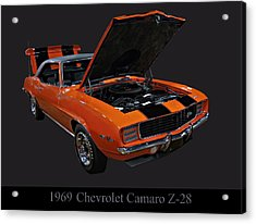 1969 Chevy Camaro Z28 Acrylic Print by Chris Flees