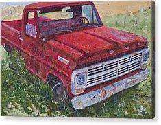 1969 F100 Acrylic Print by Les Katt