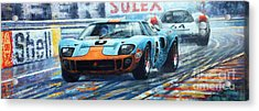 1969 Le Mans 24 Ford Gt 40 Ickx Oliver Winner  Acrylic Print by Yuriy Shevchuk