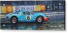 1969 Le Mans 24 Ford Gt40 Jacky Ickx Jackie Oliver Winner Acrylic Print by Yuriy Shevchuk