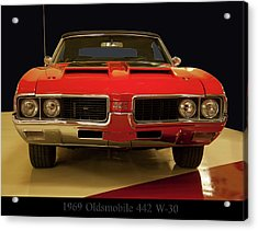 Acrylic Print featuring the photograph 1969 Oldsmobile 442 W-30 by Chris Flees