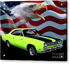 1969 Plymouth Road Runner Tribute Acrylic Print by Peter Piatt