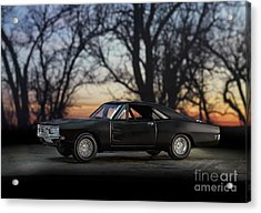 1969 Roadrunner Acrylic Print by Art Whitton
