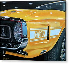 1969 Shelby Gt500 Acrylic Print by Branden Hochstetler