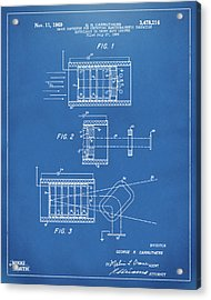 Acrylic Print featuring the digital art 1969 Short Wave Electromagnetic Radiation Patent Blueprint by Nikki Marie Smith