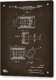 Acrylic Print featuring the digital art 1969 Short Wave Electromagnetic Radiation Patent Espresso by Nikki Marie Smith