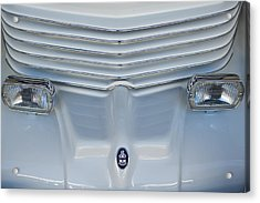 1970 Cord Royale Grille Hood Ornament Acrylic Print by Jill Reger