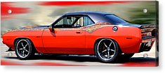 1970 Dodge Challenger Srt Acrylic Print by Maria Urso