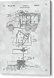 1970 Dump Truck Cover Patent Acrylic Print
