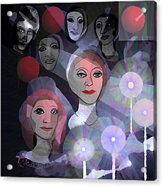 Acrylic Print featuring the digital art 1970 - A Ceremony by Irmgard Schoendorf Welch
